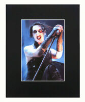 Custom Personalized Silk Poster Marilyn Manson and Rob Zombie Wall Decor