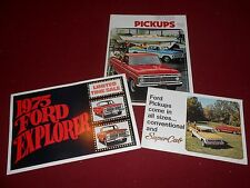 1975 FORD PICKUP TRUCK CATALOG + 75 EXPLORER BROCHURE and SUPERCAB 3 for 1 Deal