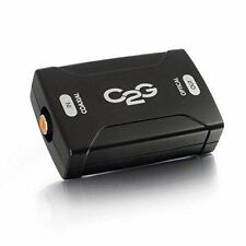 C2G Cables To Go 40018 Coaxial to Toslink Optical Digital Audio Converter, Black