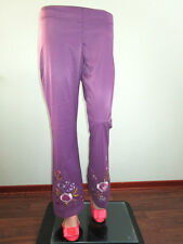 Denny Rose Womens Vtg 90s Embroider Casual Flare Trousers Pants size 14 L K22