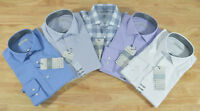 NWT Men's Perry Ellis Portfolio Travel Luxe Long Sleeve Button Down Dress Shirt