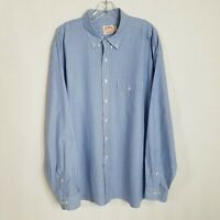 Brooks Brothers Mens Blue Striped Button Front Long Sleeve Shirt Size XL - SD401