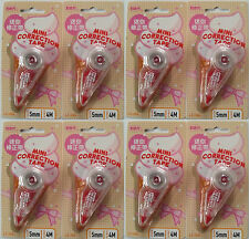 8x LIBERTY Correction Tape Mini Size 5mm*4m White Out Cute Pink Gift Cheap Pens