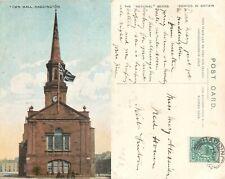 s12046 Town Hall, Haddington postcard  1904 stamp *COMBINED SHIPPING*