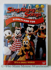Disneyland Fun Sing Along Songs Disney Music Karaoke DVD It's A Small World Etc.