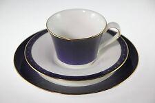 "Wedgwood ""midnight"" Tee- Gedeck 3tlg. bone china - cup saucer plate"