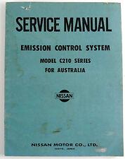 Datsun 240K C210 series 1977 factory workshop manual for emission control system