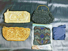New listing Vintage Ladies Bags Clutches Purses Lot For Bead/Sequin Repair Projects