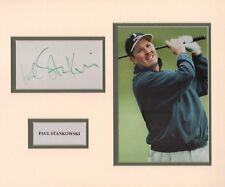 "PAUL STANKOWSKI-2 x PGA TOUR WINNER-12x10"" SIGNED AUTOGRAPH DISPLAY-AFTAL/UACC"