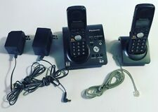 Panasonic KX-TG1031B Dect 6.0 2 Bases 2 Handsets 2 Power Adapters Used