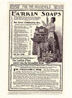 "LARKIN SOAP 1898 Chautauqua OAK DESK Premium 8 x 10"" Vintage REPRINT AD Print"