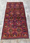 Vintage Rug 7'x3'5 ft Nomadic Afghan Baluch Rug Best Wool oriental beloch rug