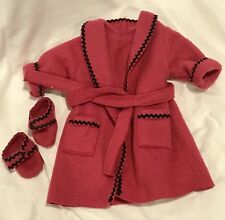 1996 Pleasant Co AMERICAN GIRL of Today PINK FLEECE ROBE /& SLIPPERS NEW