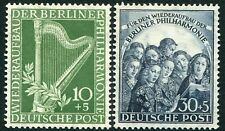 WEST BERLIN-1950 Orchestra Pair Sg B72/3 UNMOUNTED MINT V35088