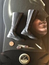 Hot Toys Batman Begins Quarter Scale QS009 Black Boots loose 1/4 scale