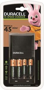 Brand New Duracell 45 Minutes Battery Charger with 2 AA and 2 AAA