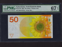 Netherlands:P-96,50 Gulden,1982 * Sunflower * PMG Superb Gem UNC 67 EPQ *