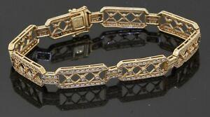 14K yellow gold elegant high fashion 0.69CT diamond fancy link bracelet