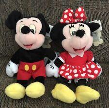 Disney Mouseketoy Tag Mickey & Minnie Beanbag Plush W/plastic eyes