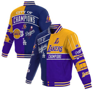 Los Angeles Lakers Dodgers 2020 Dual Champions City of Champions Jacket New NWT
