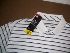 UNDER ARMOR heatgear upf 30+ golf polo shirt in white size L New with tags