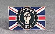Metal Enamel Pin Badge Brooch Northern Soul NS 45RPM Union Jack