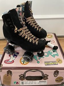 Moxi Roller Skate Lolly Black Size 6 (Women's 7-7.5) With Leopard Laces!