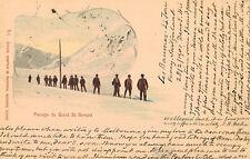 Grand St.Bernard Pass,Switzerland,Skiers,Canton Valais,Used,1901