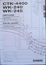 Casio CTK-4400 WK-240 WK-245 Electronic Keyboard Original Owner's Manual Book