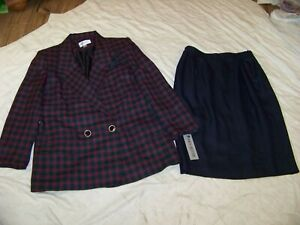 Vintage John Meyer Double Breasted Skirt Suit - 16 - New with Tags - Wool Blend