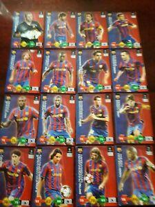 Panini Champions League Super Strikes 2009/10 Barcelona Full Team Base Cards