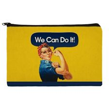 Rosie The Riveter Poster World War II Makeup Cosmetic Bag Organizer Pouch