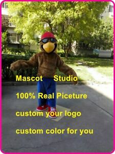 Brown Eagle Mascot Costume Suit Cosplay Party Game Dress Outfit Halloween 2019