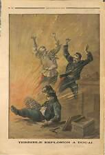ACCIDENT Safety fuse Bickford ARTIFICIERS COLONNE / DUEZ TRIVIEZ A DOUAI  1889