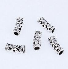 Free Shipping 10pcs Tibetan Silver Bending Pierced Big Hole  Spacer Beads XZ42