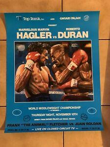 Mint 1983 Roberto Duran Vs. Marvelous Marvin Hagler Original Boxing Poster Rare