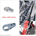 Chrome Alloy Brake Clutch Cable Wire Clamp Clip For 1