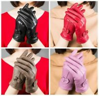 USA Genuine Lambskin Leather Gloves Women's Winter Warm Driving Soft Lining Golf