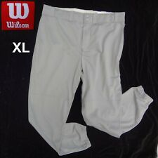 NEW NWT Wilson Men's Size XL Classic Fit Poly Warp Knit Baseball Pants in Gray