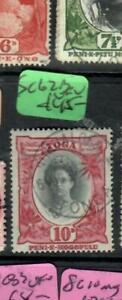 TONGA  (P1904B)  10D  SG 62B    VFU