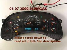 06 07 Chevy 2500 ,3500 Silverado  Speedometer ,6.0 Gas ,15105688