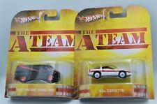 Hot Wheels Custom Gmc Panel Van, 80's Corvette, A-Team Bundle