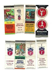 8  MARATHON GASOLINE   Matchcovers  Front Strike