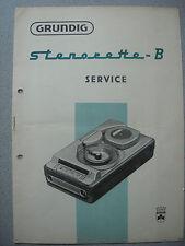 GRUNDIG Stenorette B Service Manual ohne Ersatzteil Liste