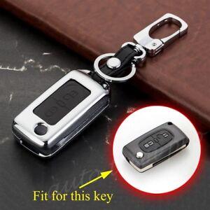 2 Buttons Key Fob Case Bag Holder Fit For Citroen C2 C3 C4 C5 C6 Picasso Quatre