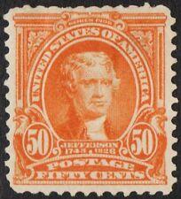 "US Sc# 310 *MINT OG H* { -VF- 50c ORANGE JEFFERSON } ""SCARCE OF 1903 CV$ 475.00"