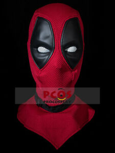 On Sale!! textured Combed Cotton & leather Deadpool Cosplay Mask mp005187