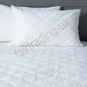 Extra Deep Quilted Mattress Protector Waterproof Fitted Sheet Cover All Size
