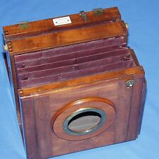 Meagher LONDON 8.5x6.5 inch wood & brass vintage bellows camera BODY ONLY