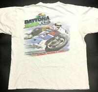 Daytona 200 Vintage March 7 1999 Motorcycle Race White Adult Mens Size XL Arai